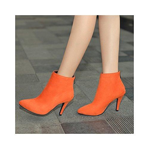 zapatos Naranja boda de la botas grandes partido con los OCHENTA de del 43 Alta yardas 35 gqRWTwcnX