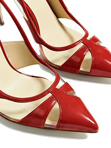 Zara Femme Vinyle rouge court chaussure 2216/201