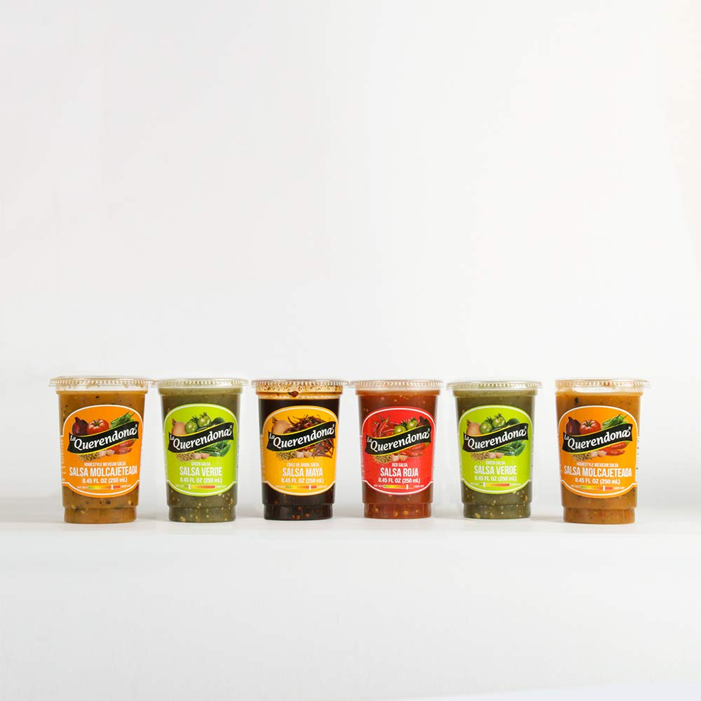 Amazon.com : La Querendona Salsa Combo DOS (2 Salsa Verde, 1 Salsa Roja, 2 Salsa Molcajeteada, 1 Salsa Maya), 8.45 Fl OZ (Pack of 6) : Grocery & Gourmet ...