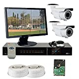 GW Security VD2CHH10 4 CH HD-SDI DVR 2 x HD-SDI 1/3-Inch 2.1 Megapixel CMOS Camera, 1080P 2.8 to 12 mm Lens, 72-IR LED, 164-Feet IR Distance