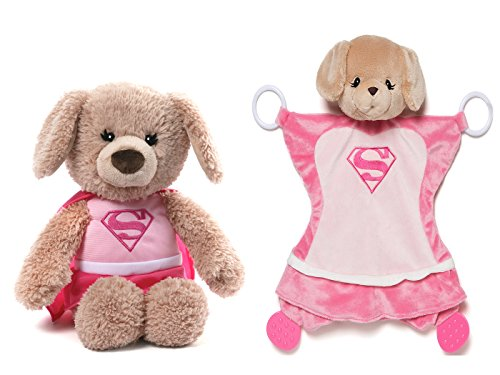 DC Comics Supergirl Plush and Activity Blankie Grow With Me Set]()