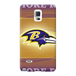 Shockproof Hard Cell-phone Cases For Samsung Galaxy Note 4 With Provide Private Custom Colorful Baltimore Ravens Series LeoSwiech