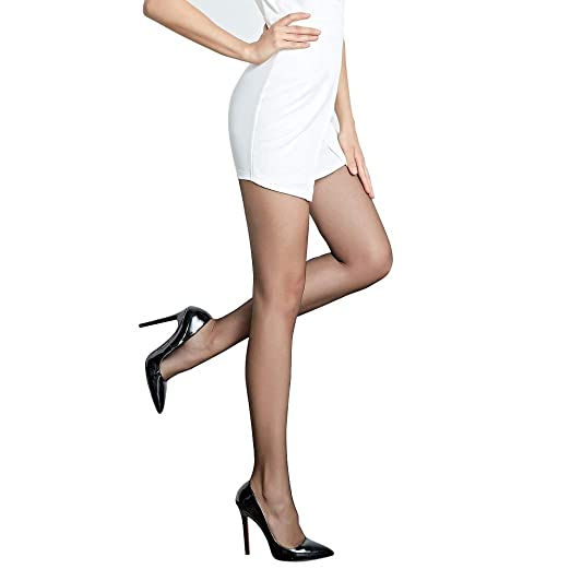 a312594ff Women s Soft Control Top Silk Stockings Tights Elastic Waist Band Anti-hook  Pantyhose