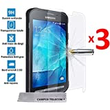 3 Films Vitre Verre Trempé de protection ecran pour Samsung Galaxy Xcover 3 SM-G388F by Campus Telecom®