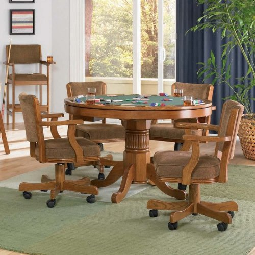 Norwitch 3-in-1 Oak Game Table
