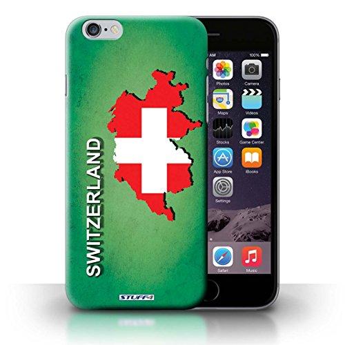 KOBALT® Hülle Case für iPhone 6+/Plus 5.5 | Schweiz/Swiss Entwurf | Flagge Land Kollektion
