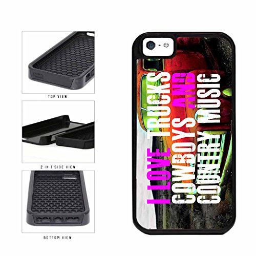 BleuReign(TM) Country Girls Love Trucks Cowboys And Country Music Dual Layer Phone Case Back Cover Apple iPhone 5 5s