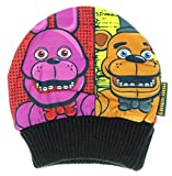 five nights of freddy merchandise - Five Nights at Freddy's Fazbear's Pizza Four Panel Beanie Hat Cap Youth Size