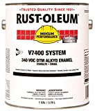 RustOleum 245486 Tile Red V7400 High Performance System Alkyd Enamel Paint, 1 gal Can (Pack of 2)