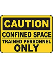 INDIGOS UG - Väggdekor - Säkerhet - Varning - Caution Trained Personnel Only Sign 254mmx 177mm - Decal for Office - Company - School - Hotel
