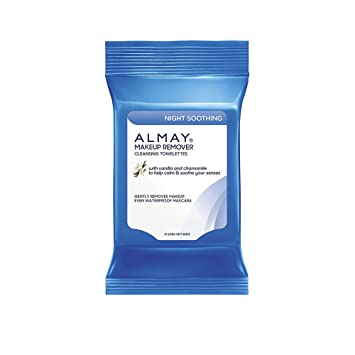 Almay Night Soothing Makeup Remover Cleansing Towelettes With Vanilla And Chamomille