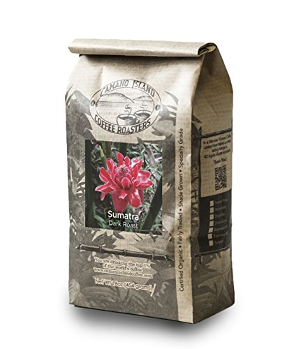 Camano Island Coffee Roasters, Organic Sumatra Dark Roast, Ground, 1 Lb