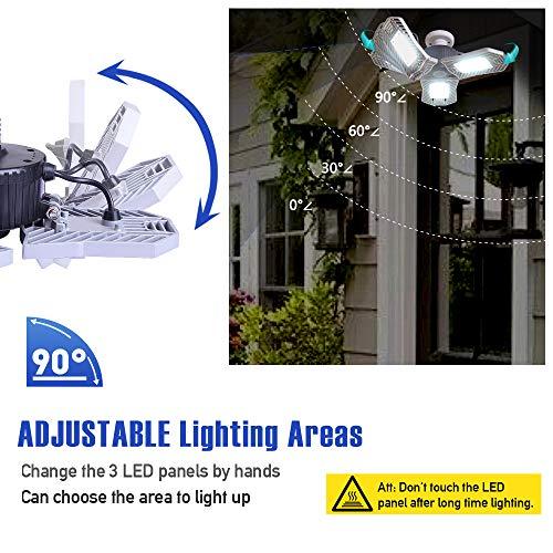 Garage Lighting,E26 Led Bulb 6000LM,Led Garage Ceiling Lights,led Garage Lights,Garage Light Bulb,led Bulb for Garage,led Shop Light,Workshop Light (Daylight, 60w''Standard'') (60w''Standard'' Daylight) by LifeLUX (Image #1)