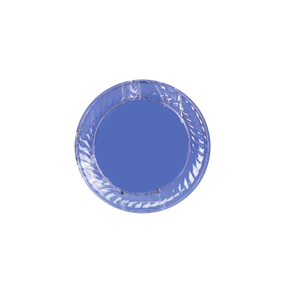 Novelty Crystal RP 1232 PEC 12 in. Clear Swirl Round Scalloped Edge Tray - Case of 25 by Novelty Crystal RP