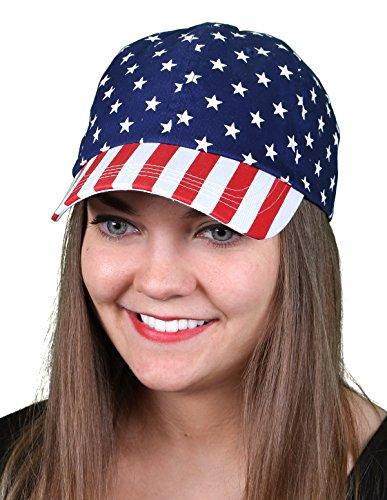 H-6918-6916 USA Baseball Hat - Velcro