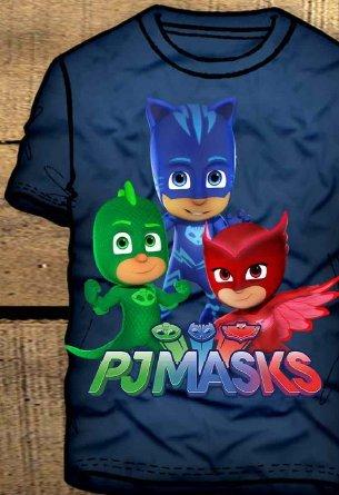 Camiseta PJ MASKS para niños, de algodón biel&aacute ...
