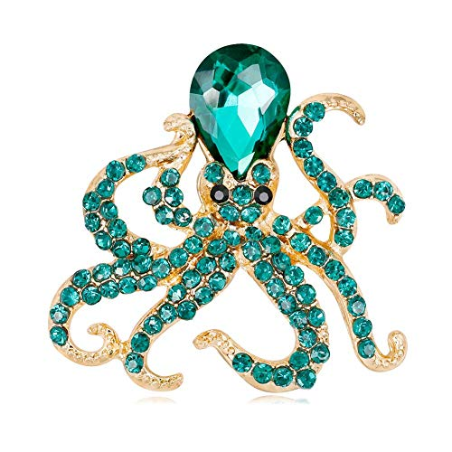 Yevison Octopus Brooch Fashion Personality Alloy Diamond Marine Life Animal Brooch Brooch Pin -