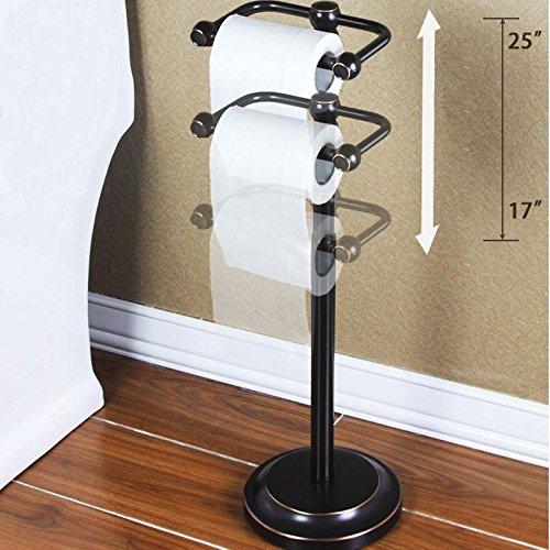 SSBY Floor-standing environmental protection toilet roll holder, creative model, adjustable height, sucker for luxury toilet paper holder by Toilet Paper Holder (Image #4)