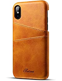 Iphone X/Iphone 10, 5.8 inches, Wallet Phone Case, Slim PU Leather Back Case Cover With Credit Card Holder for Men Women