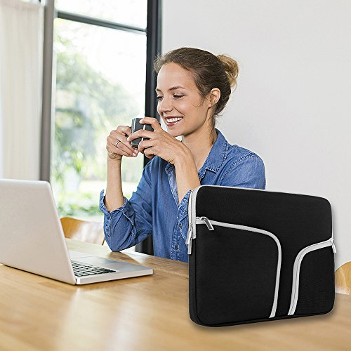 egiant Laptop Sleeve Case 11-11.6 inch, Water-Repellent Protective Chromebook Cases Bag Compatible Mac Air 11/12 Surface Pro 3 4 /Chromebook 11/Stream 11,Computer Notebook Carrying Case-Black by egiant (Image #6)