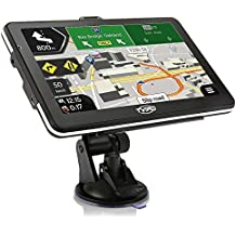 "Coche Sistema de navegación GPS, navegación GPS para coche, SAT NAV, 7"" HD sistema de aviso de voz, navegador GPS, tvird Navegación GPS del vehículo con cable USB y cargador de coche, extender memoria de 32GB, de Por Vida última intervensión updaet mapa"
