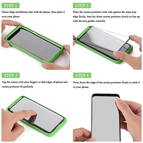 [Tray Installation]Samsung Galaxy S8 Plus Screen Protector, Otao [Case-friendly] Tempered Glass Screen Protector with Positioner for Galaxy S8 Plus