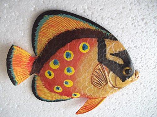 - Tropical Fish Wall Plaque Tiki Bar Beach Nautical Size 5.25