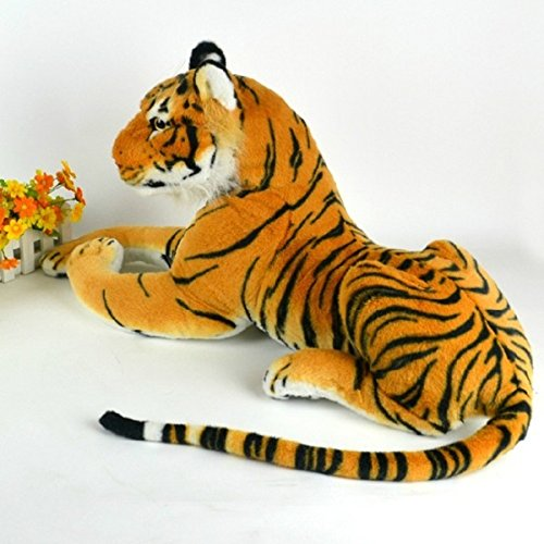 HITSAN 30cm Artificial Tiger Animal Plush Doll Cloth Kids Simulation Stuffed Toys One Piece