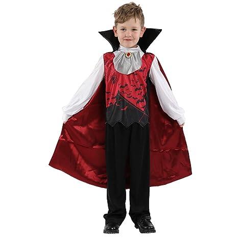 Royanney ハロウィン仮装 子供 ハロウィン衣装 子供 男の子 ドラキュラ 吸血鬼 ハロウィン コスプレ 子供 ハロウィン 衣装 吸血鬼  ハロウィン コスチューム コスプレ スケルトン 衣装 仮装 子供 男の子 吸血鬼 衣装