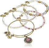 Alex and Ani I Love You Mom Set of Five Rafaelian Gold Bangle Bracelet