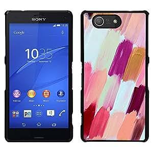 A-type Arte & diseño plástico duro Fundas Cover Cubre Hard Case Cover para Sony Xperia Z3 Compact / Z3 Mini (Not Z3) (White Purple Peach Nail Polish)