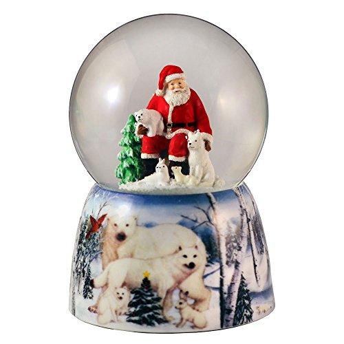 (Santa with Animal Friends Water Globe San Francisco Music Box)