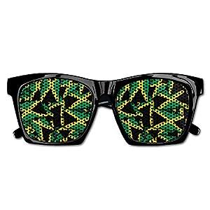 Ysm&Gaz Jamaica Flag Pattern Unisex Polarized Party Sunglasses Resin Frame Eyewear Favor Mesh Lens Sun Glasses