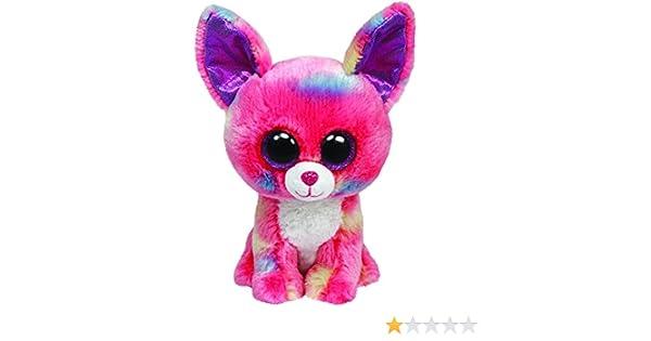 Ty Beanie Boos Glubschi - Chihuahua de peluche (tamaño grande), color rosa y azul - Peluche Beanie Boos Chihuahua Cancun Rosa 23cm, Juguete Peluche beanie ...