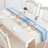 Flamingos Cotton Linen Placemat Table Runner 14'' x 72''