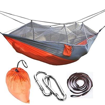 LJ&L Parachute avec filets moustiquaires hamac, camping extérieur anti-moustique, léger et durable, la capacité de charge maximale de 200kg