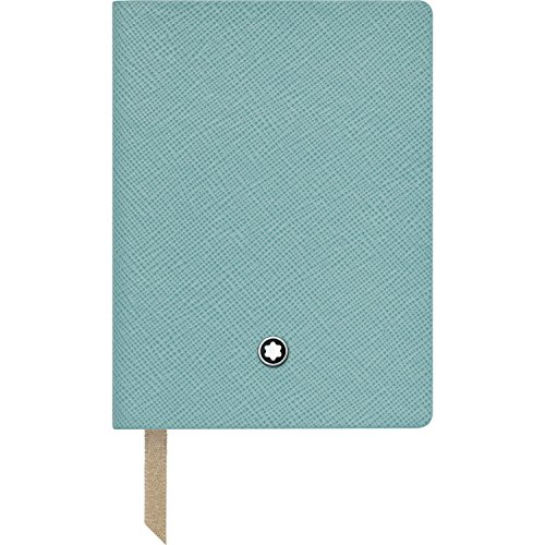 Montblanc Notebook Mint Lined #145 Fine Stationery 114972 – Pocket-Size Journal with Elegant Leather Binding and Ruled Pages – 1 x (3.1 x 4.3 in.)