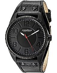Bulova Mens 45B125 New York Analog Display Quartz Black Watch