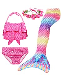 Always beautiful Mermaid Swimsuit Tail Two Ways to Use, Beach Fun Girl Bikini Suit