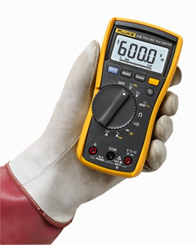 fluke 115 digital multimeter with true rms for field service technicians