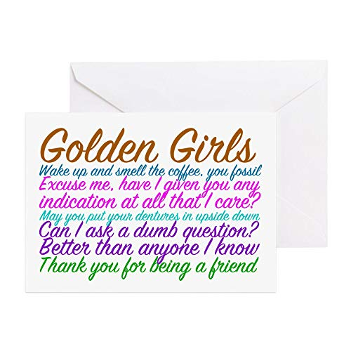 CafePress Golden Girls Greeting Card, Note Card, Birthday Card, Blank Inside Glossy