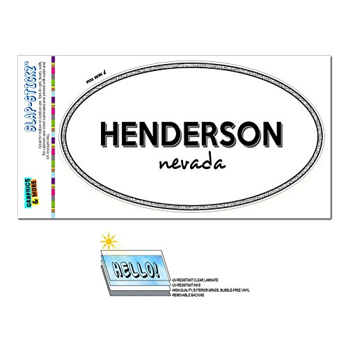 (Graphics and More Euro Oval Window Bumper Glossy Laminated Sticker Nevada NV City State Bat - Yer -)
