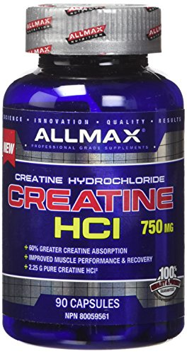 Cheap ALLMAX CREATINE HCI, Dietary Supplement for both Men and Women, 750mg, 90 Count