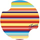 Thirstystone Car Multi-Stripe Fiesta Coasters, Multicolor