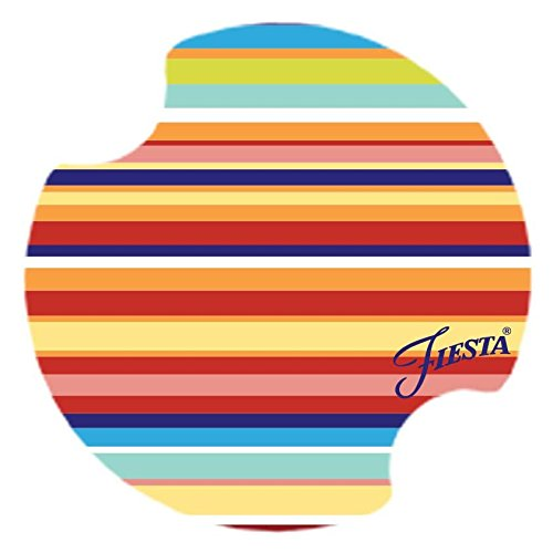 Thirstystone Car Multi-Stripe Fiesta Coasters, Multicolor