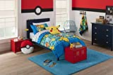 Pokemon ''First Starters'' 4 Piece Twin Bed in a Bag Bedding Set for Kids - Comes with Comforter, Pillowcase and Sheets