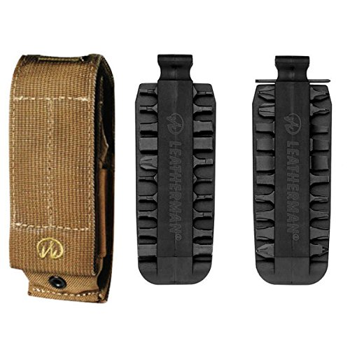 Leatherman XL MOLLE Sheath fits the MUT® EOD, Super Tool® 300, Surge®, MUT®, Super Tool® 300 EOD With 42 Piece Bit Kit