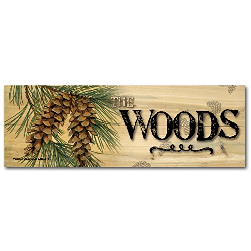 WGI-GALLERY 248 The Woods Pine Cone Wooden Wall Art (Pine Cone Art)