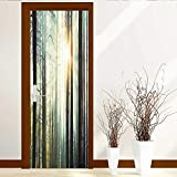 Leighhome Static Cling Glass Film Sun in The Woods Privacy Window Film Decorative Window Film W38.5 x H79