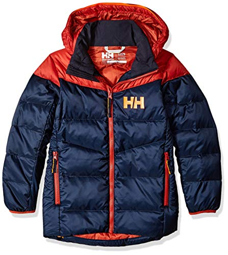 - Helly Hansen Jr Isfjord Down Mix Insulated Jacket, Navy, Size 8